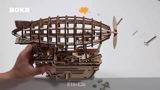 ROBOTIME -  ROKR LK702 Air Vehicle - Assemble Wooden Puzzles