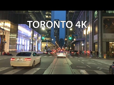 Toronto 4K - Sunset Drive - Driving Downtown
