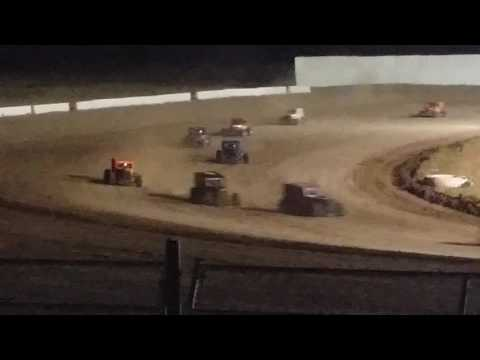 Dwarf Cars OF AZ main event at Canyon Speedway Park