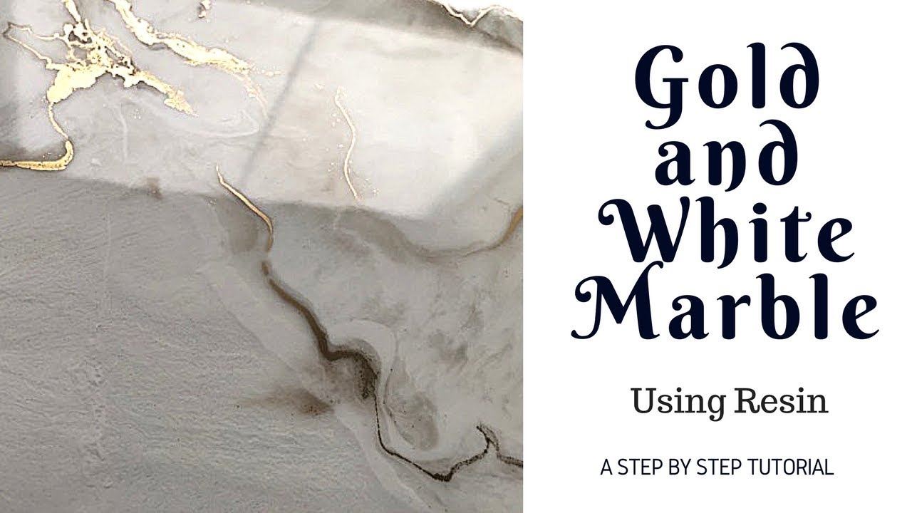Step By Step Resin Gold And White Marble Youtube