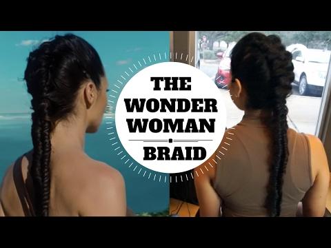 The Wonder Woman Braid Movie Trailer Hair Tutorial