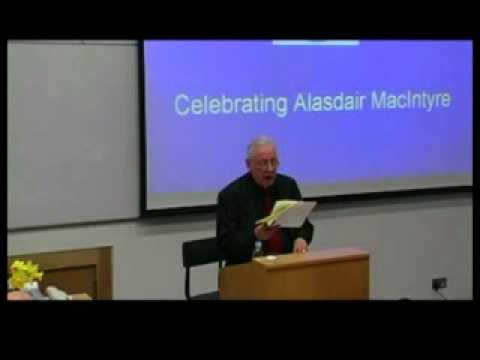 Alasdair MacIntyre: On Having Survived Academic Moral Philosophy (1 of 4)