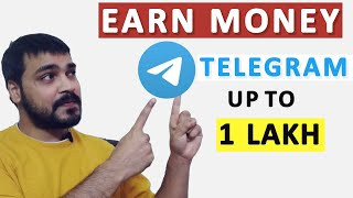Earn Rs.1 Lakh Monthly by telegram app   Work from home.Part time job   earn money with telegram