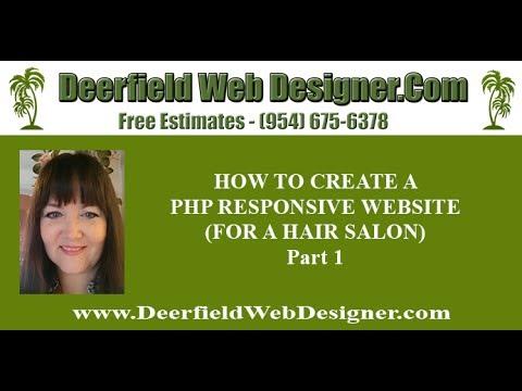DIY websites - How to Create a Responsive Website for a hair salon