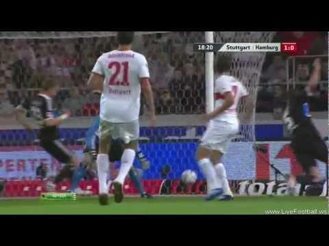 Harnik goal 1:0 HQ Stutgart vs. Hamburg 23.09.2011
