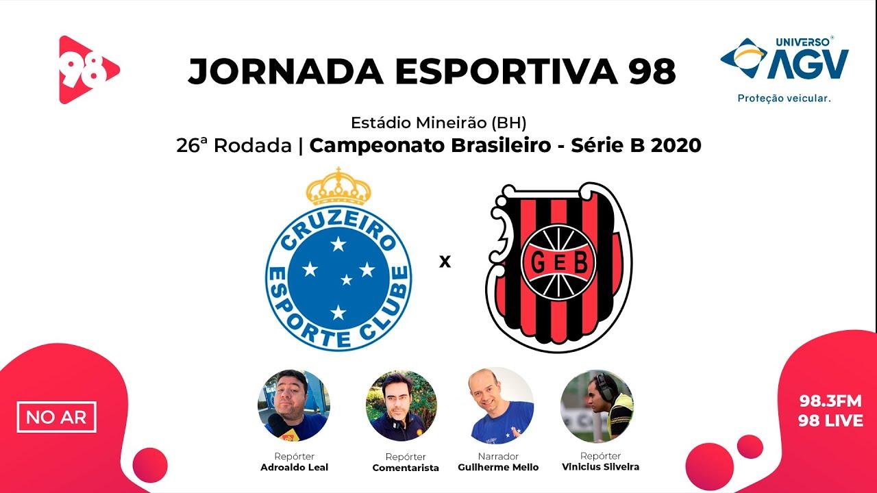 Download CRUZEIRO x BRASIL DE PELOTAS | BRASILEIRÃO SÉRIE B | AO VIVO RÁDIO 98FM