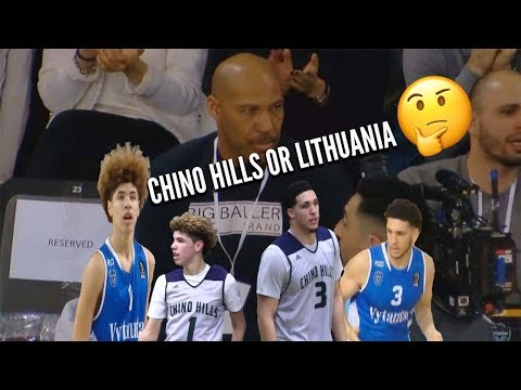 LiAngelo & LaMelo Ball FIFTH Game in Lithuania🤬Chino Hills or Lithuania Ball Bros? Which is Better?
