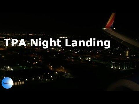 Night Landing Tampa International (TPA) - Southwest 737