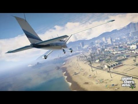 Grand Theft Auto V Gaming   (Learning Driving Aircraft)