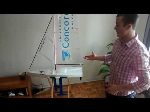 RC Sailboat with Canting Keel Long Demo