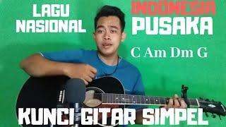 Kunci gitar simpel (Indonesia Pusaka - Lagu Nasional) by Thoriq Bakhri tutorial gitar untuk pemula