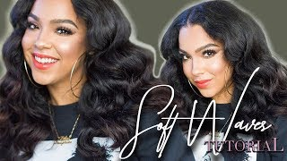 EASY Soft and Bouncy Waves Hair Tutorial | Step By Step
