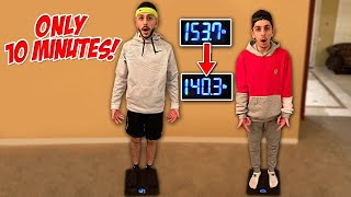 Who can LOSE the most weight IN 10 MINUTES - vs FaZe RUG!