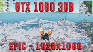 FORTNITE SEASON 7 WINTER MAP BENCHMARK | GTX 1060 3GB + I5-7400 + 8GB RAM | 1080p - EPIC