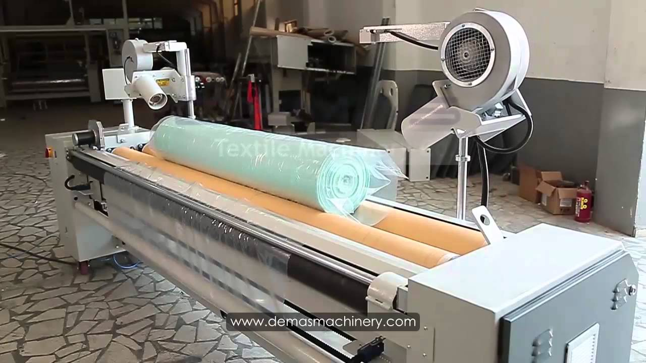 Semi Automatic Fabric Roll Packing Machine Youtube