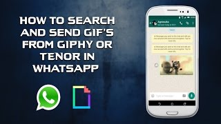 How to search and send GIF's from GHIPY all from inside WhatsApp. screenshot 5