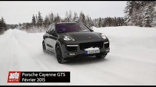 Porsche Cayenne GTS 2015 : essai vidéo sur la neige avec auto-moto.com