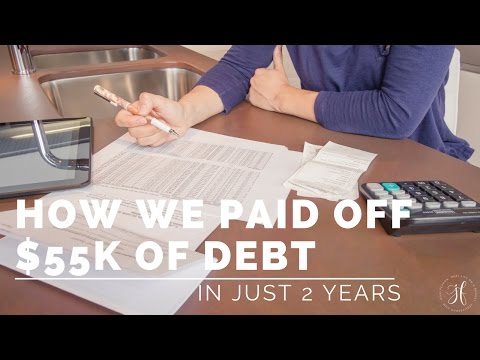 How We Paid Off $55,000 Of Debt In 2 Years