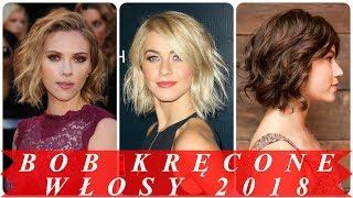Nowoczesne krótkie fryzury kręcone włosy 2018