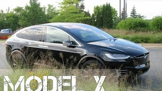 Tesla Model X P90D Ludicrous - First Look & Falcon Wing Door Action!!!