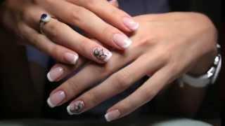 Гелевое наращивание ногтей#nails2