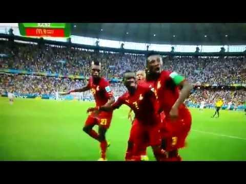 Ghana Goal Celebration vs Germany World Cup 2014