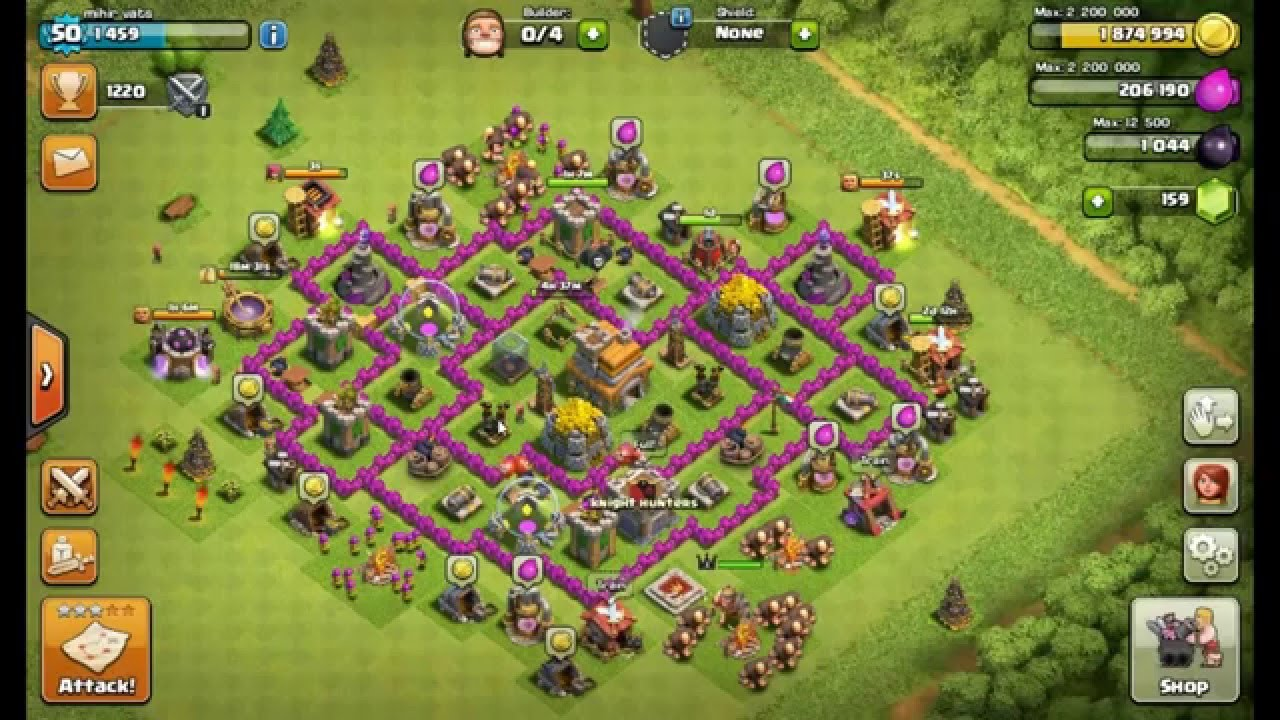 Clash Of Clans - TH7 Best Anti Dragon Base with 3 Air ...