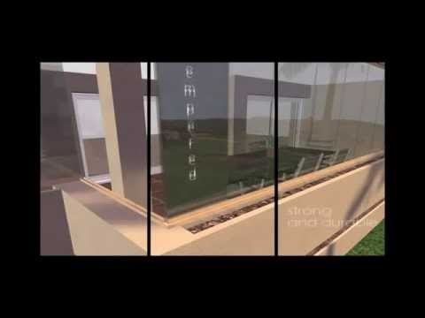 Glass Curtains USA Frameless Folding Doors YouTube