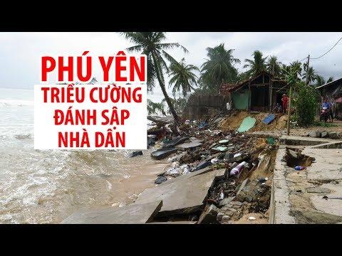 Triều cường đánh sập nhiều nhà dân ở Phú Yên