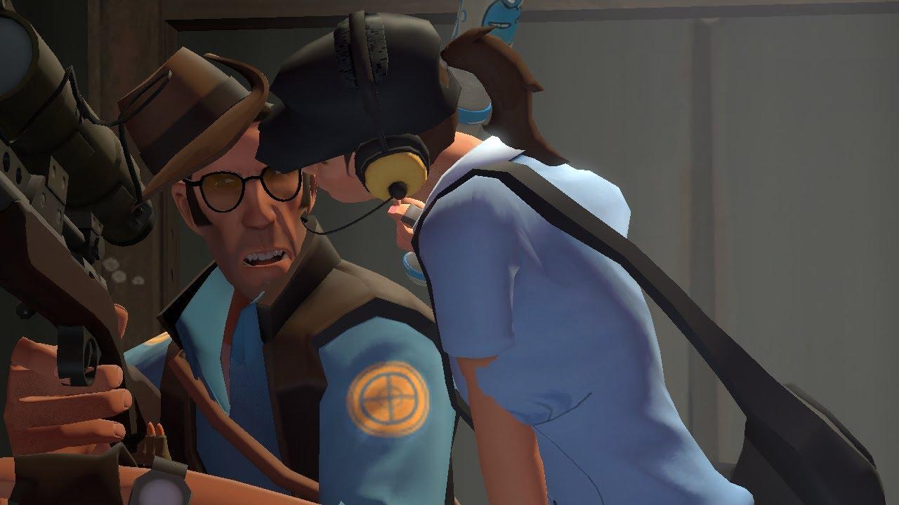 Girl Scout Wallpaper Sfm Sniper Gets A Kiss Youtube
