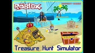 Roblox Let's Play Treasure Hunt Simulator! | Finding Buried Treasure With Kidsfuntv - Gaming