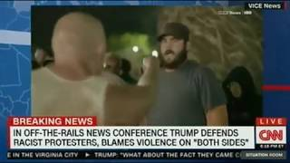 An example of hate speech; Does Trump believe the counter-protesters are as bad?