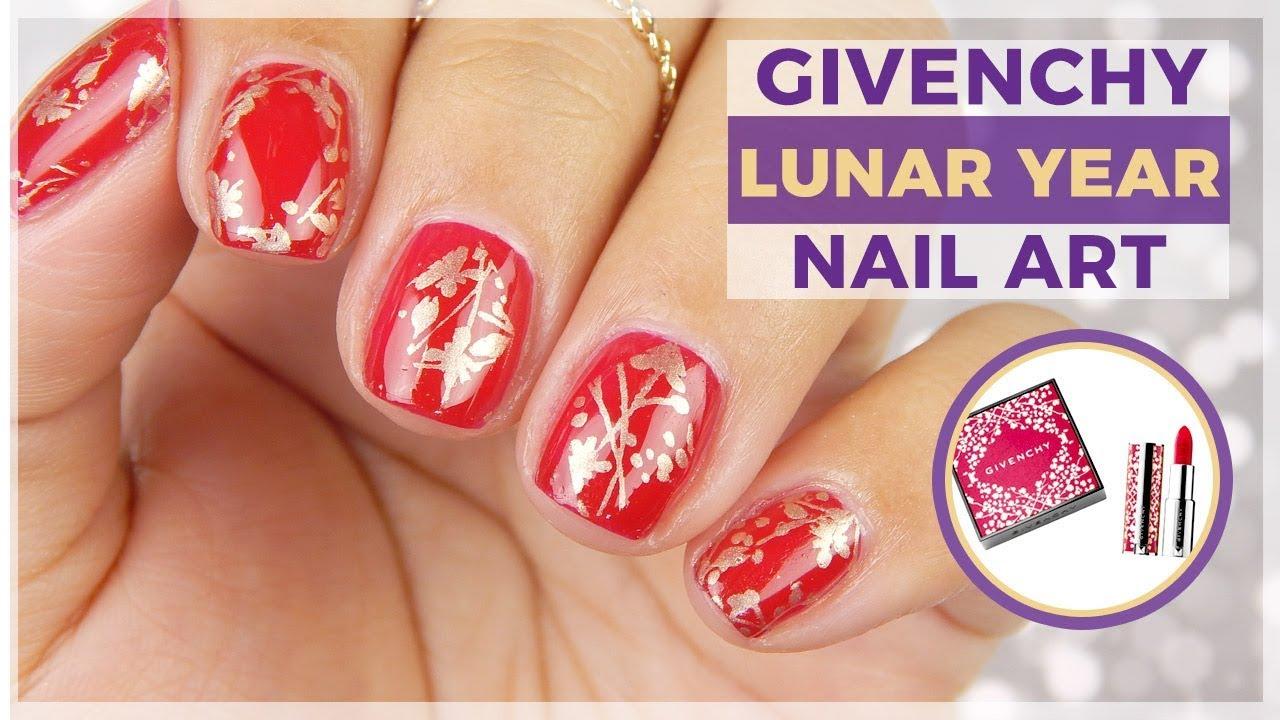 Givenchy Chinese New Year Nail Art Design Nailart Inspired By