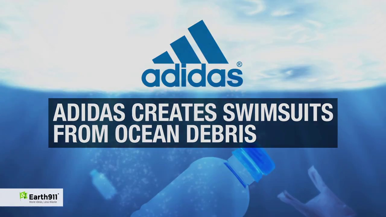 d2d244a8313 Adidas Creates Swimsuits from Ocean Debris - YouTube