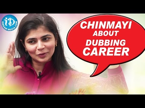 Chinmayi About Dubbing For Samantha & Lavanya Tripathi || Talking Movies With IDream