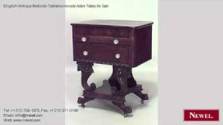English Antique Bedside Table/commode Adam Tables for Sale