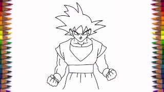 How to draw Goku from Dragon Ball Z step by step easy
