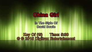 David Bowie - China Girl (Backing Track)