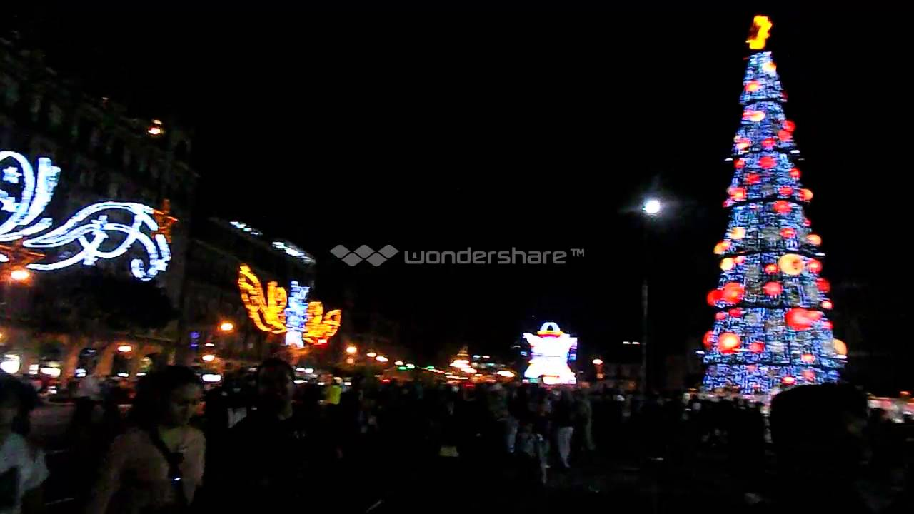 Navidad en el zocalo de la cdmx 2016 impresionante - Iluminacion de navidad ...