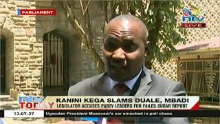 Kieni member of parliament Kanini Kega has accused majority leader ...