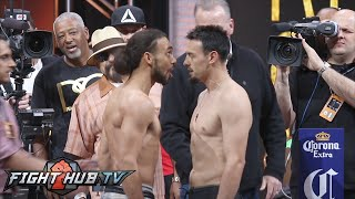 KEITH THURMAN VS  ROBERT GUERRERO FULL VIDEO WEIGH IN + FACE OFF
