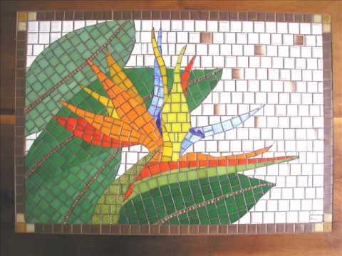 Elaine burtet arte em mosaico youtube for El mural de mosaicos