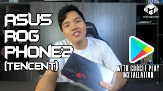 Asus ROG Phone 2 Tencent UNBOXING amp; Initial SETUP w GOOGLE PLAY