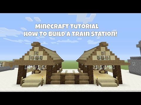 Minecraft Tutorial: How To Build A Train station!