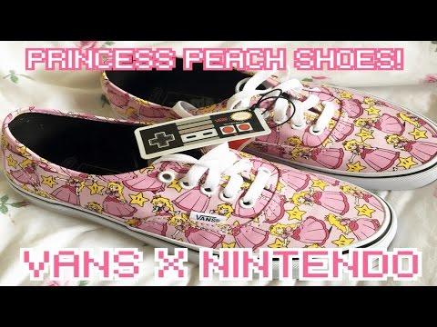 977e4af5e6aa VANS X NINTENDO - Princess Peach Shoes 🍑💕 - YouTube