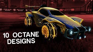 10 More Beautiful Octane Designs In Rocket League Youtube