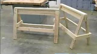 How To Build A Sawhorse : How To Stack Sawhorses
