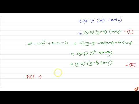 Find the HCF and LCM of the polynomials `x^3-9x^2+26 x-24 and x^3-12 x^2+47 x-60`