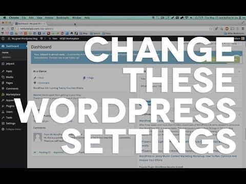02 Immediately do this for all fresh Wordpress installs