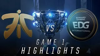 FNC vs EDG - Worlds Quarterfinal Match Highlights (2018)